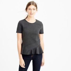 J Crew Structured flutter-hem T-shirt NWT
